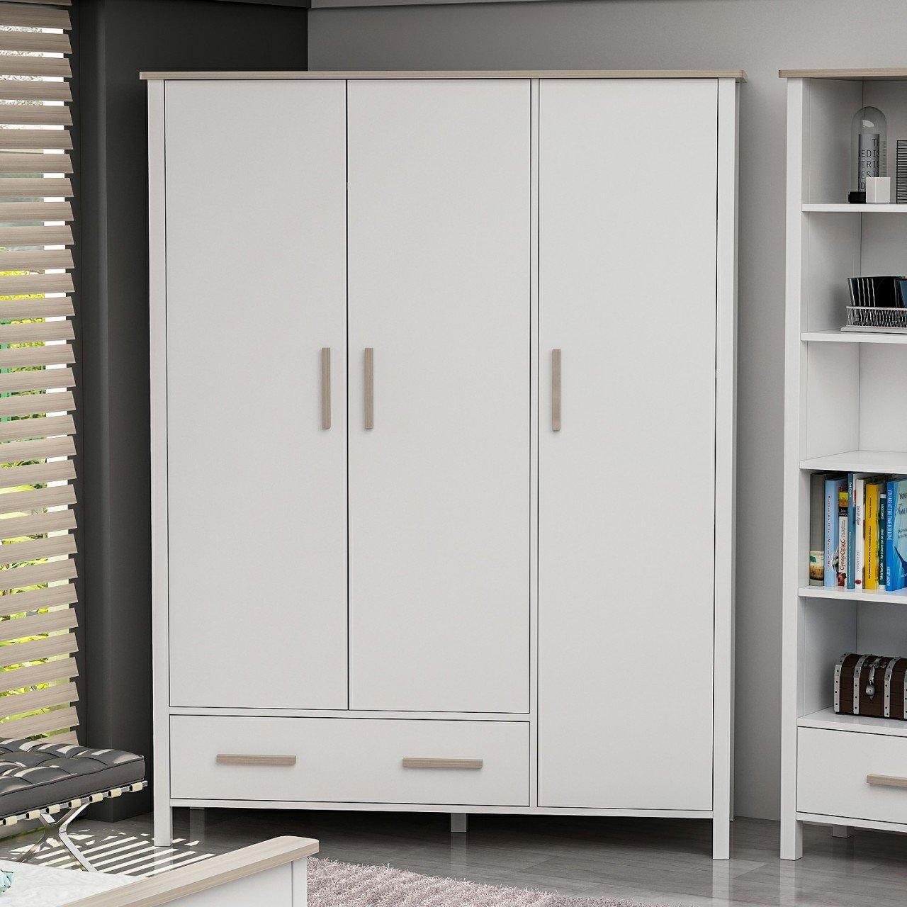 Armario Luna 3K - Beyaz/Cordoba - Muebles De Turquía